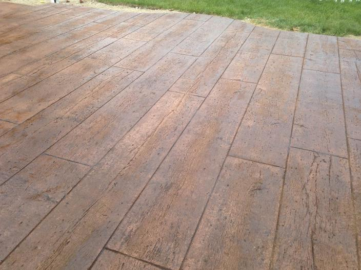 Stamped Concrete That Looks Like Wood : Decorative concrete rr walton construction